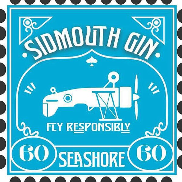 Sidmouth Gin and Seashore label