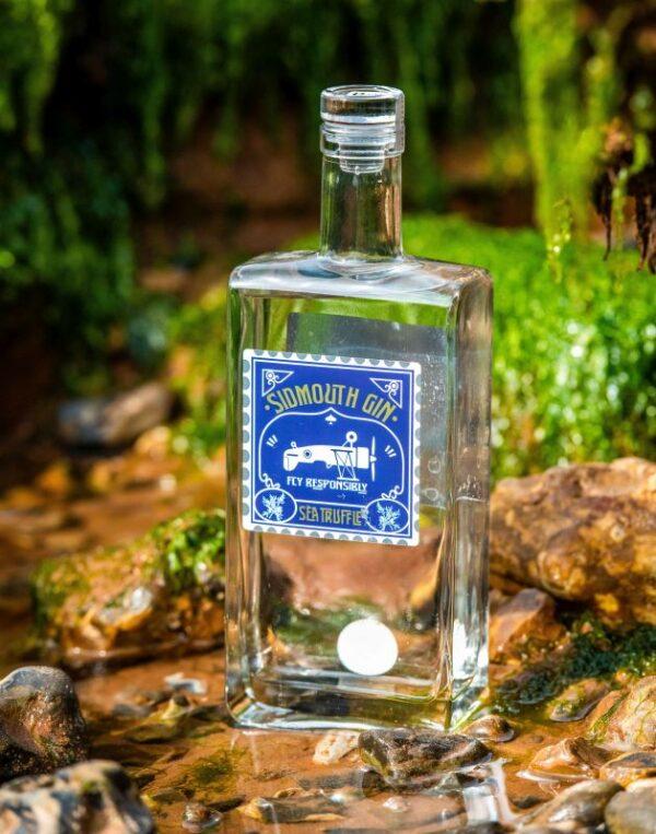 Sidmouth Sea Truffle Gin on the rocks
