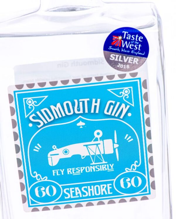 Sidmouth Seashore Gin label