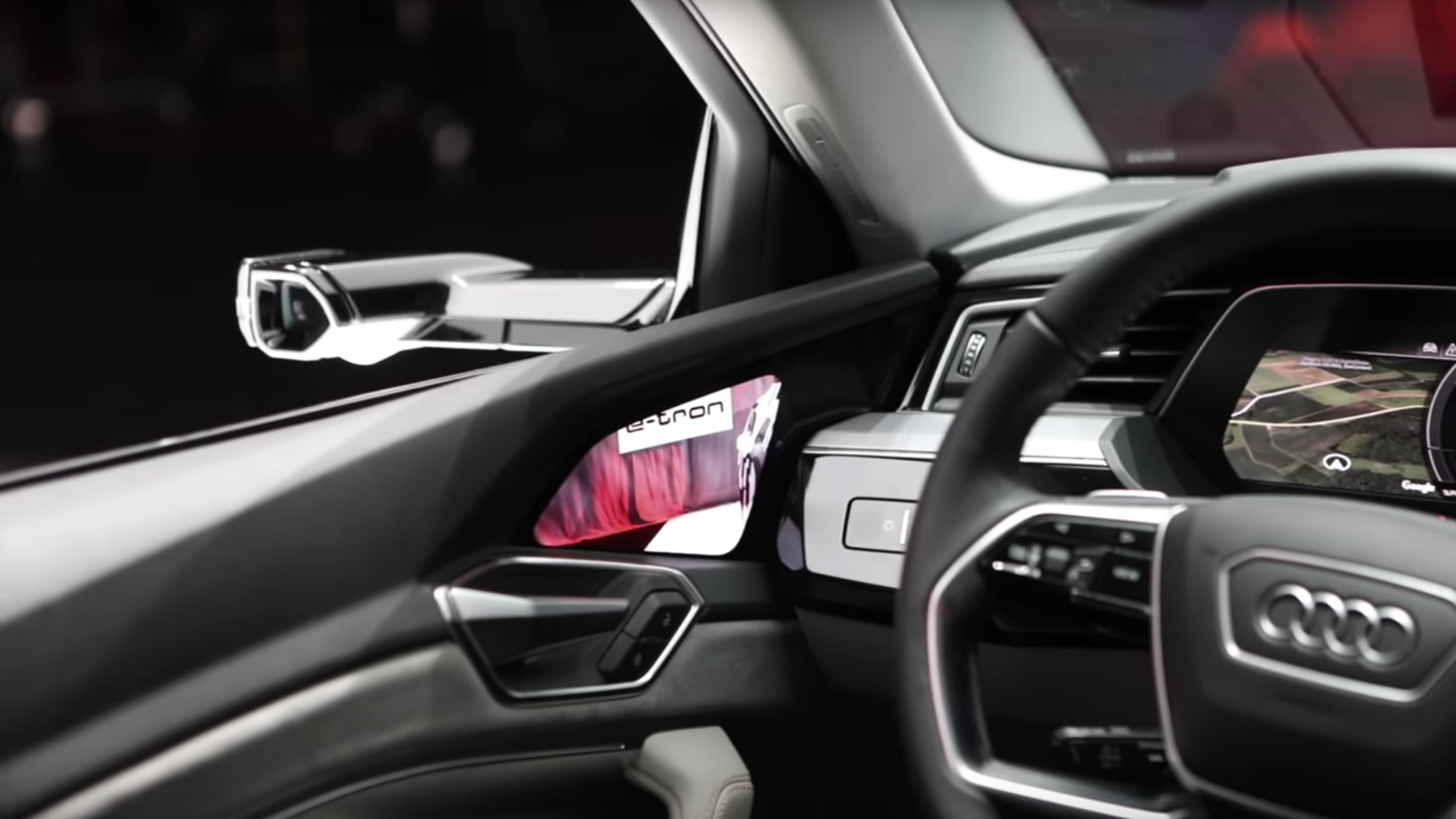 Photo of في سيارة Audi المرايات هي شاشات 7″ تعدلها باللمس