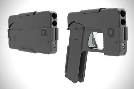صورة مسدس حقيقي يتنكر على هيئة أيفون