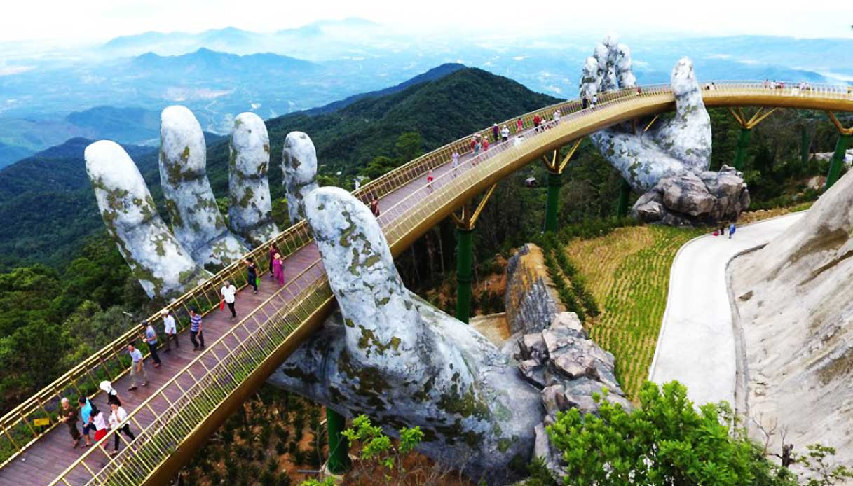 صورة جسر رائع على أيدي العمالقة في فيتنام