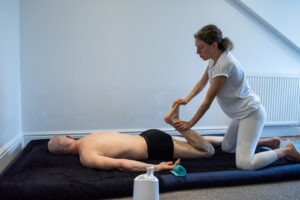 Tatiana Aitken giving tantric massage to male client