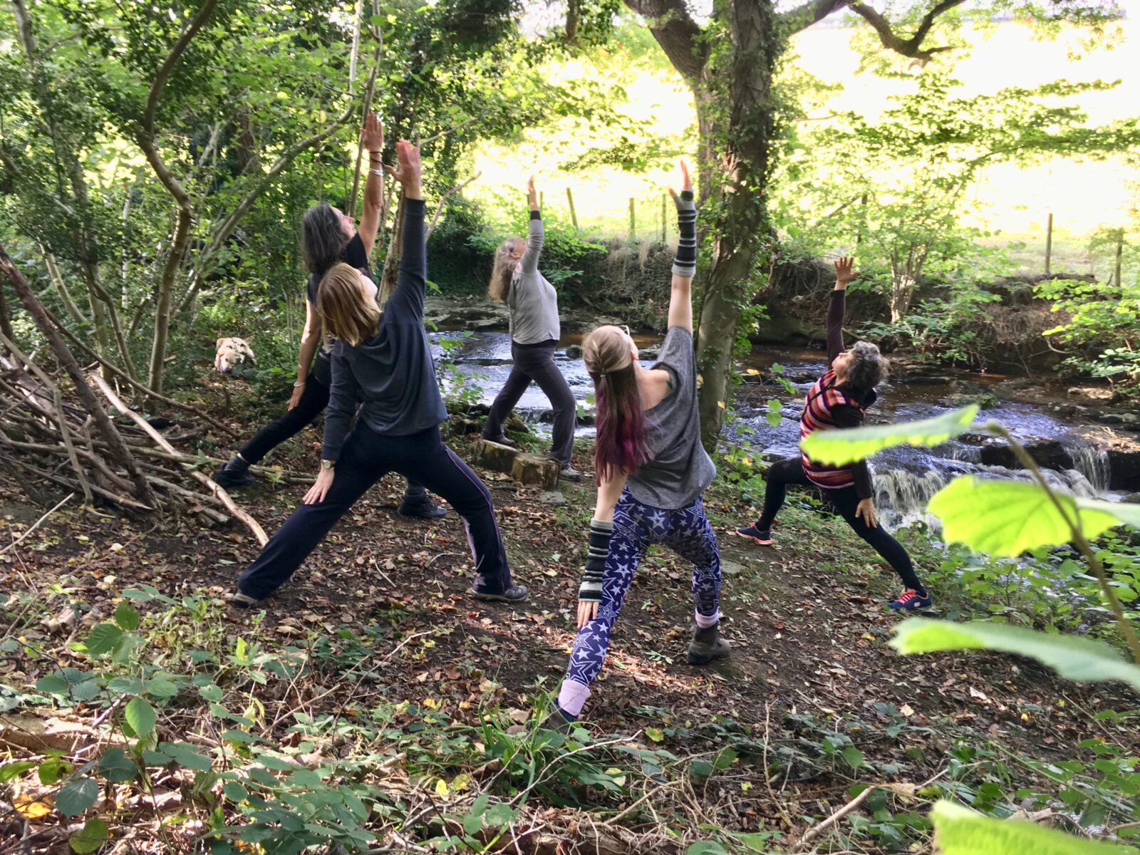 A yoga class on one of our North Yorkshire retreats.