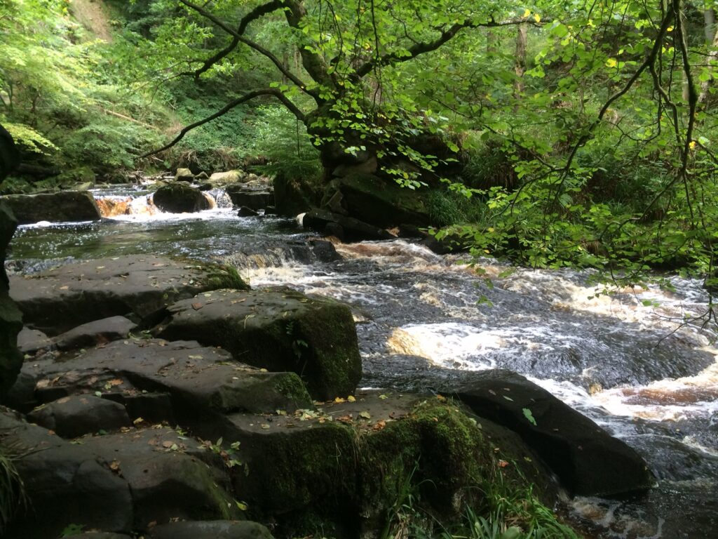 Yorkshire waterfall - positive ions