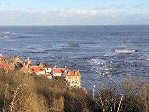 Looking out over the sea at Robin Hood's Bay.