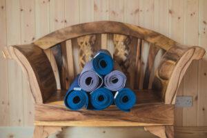 Yoga mats in the Yogandspice Studio.