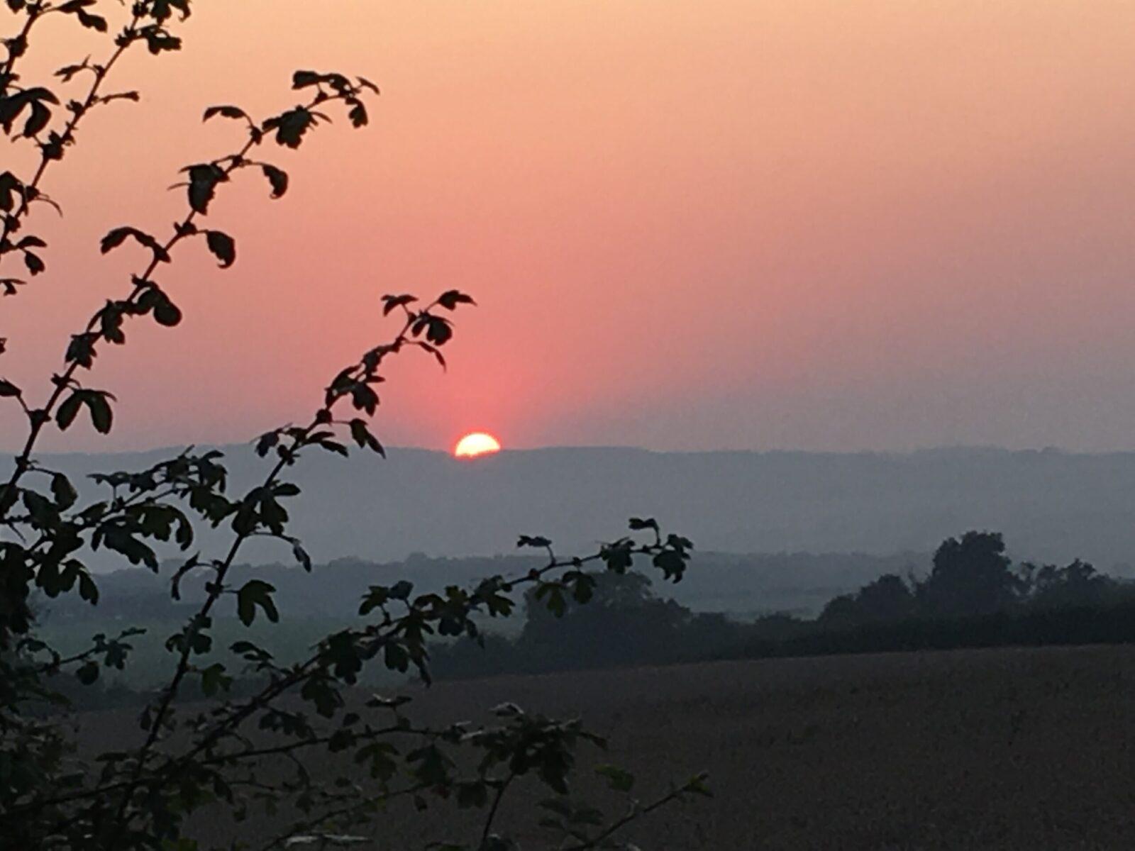 Sun setting over the North York Moors.