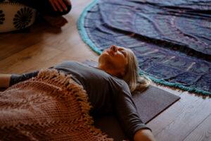 A wellness class in the Yogandspice Studio.