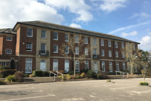Front view of Exminster House Development