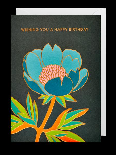 Lagom flower birthday hanna-werning funky quirky unusual modern cool card cards greetings greeting original classic wacky contemporary art illustration fun