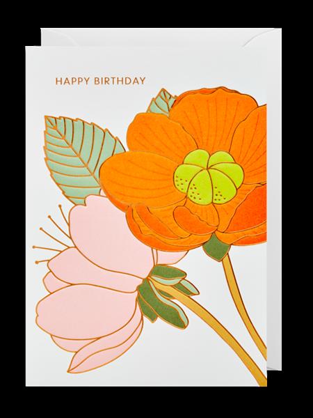 flowers flower happy birthday Lagom hanna-werning funky quirky unusual modern cool card cards greetings greeting original classic wacky contemporary art illustration fun