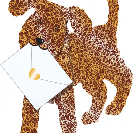 funky quirky unusual modern cool card cards greetings greeting original classic wacky contemporary art photographic fun vintage retro 3D cut-out special-delivery dog coco