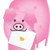3D cut-out special-delivery pig