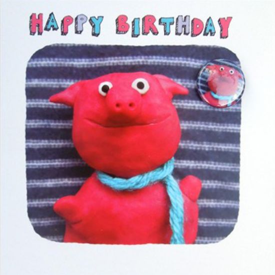 funky quirky unusual modern cool card cards greetings greeting original classic wacky contemporary art illustration fun Lucy-mason pig birthday funny badge cute funky quirky unusual modern cool card cards greetings greeting original classic wacky contemporary art illustration fun Lucy-mason