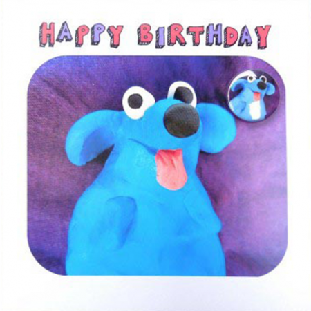 funky quirky unusual modern cool card cards greetings greeting original classic wacky contemporary art illustration fun Lucy-mason dog birthday badge cute funny