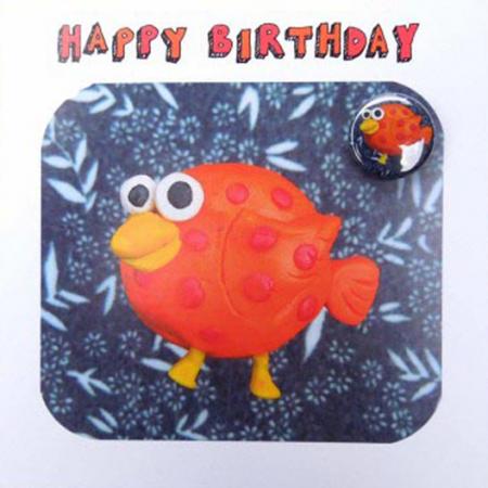 bird birthday cute funny badge
