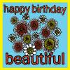 flowers beautiful Birthday funky quirky unusual modern cool card cards greetings greeting original classic wacky contemporary art illustration fun vintage retro malarkey Brighton Malarkey-Cards