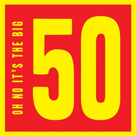 50th fiftieth fifty 50 Birthday funky quirky unusual modern cool card cards greetings greeting original classic wacky contemporary art illustration fun vintage retro malarkey Brighton Malarkey-Cards