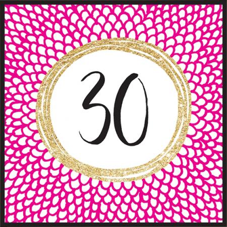 funky quirky unusual modern cool card cards greetings greeting original classic wacky contemporary art illustration fun cute glitter gold neon 30 30th thirty thirtieth birthday rachel ellen sparkling gold flitter