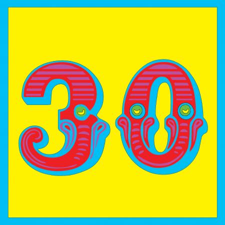 funky quirky unusual modern cool card cards greetings greeting original classic wacky contemporary art illustration photographic vintage retro kids malarkey-cards circus ringmaster birthday age circus 30 thirty thirtieth 30th malarkey Brighton