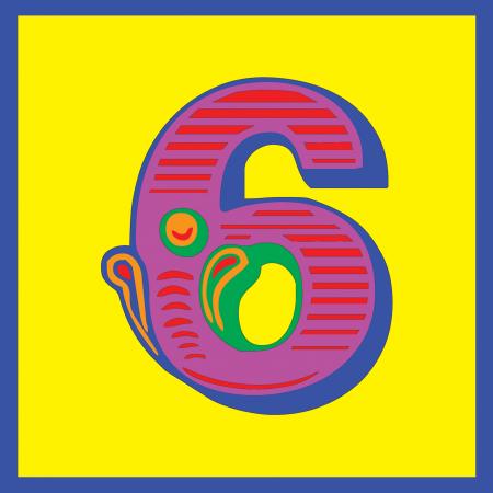 funky quirky unusual modern cool card cards greetings greeting original classic wacky contemporary art illustration photographic vintage retro kids malarkey-cards circus ringmaster birthday age circus 6 six sixth 6th malarkey Brighton