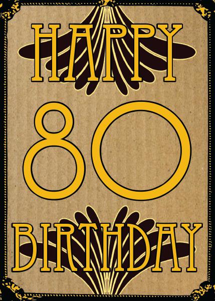 Birthday funky quirky unusual modern cool card cards greetings greeting original classic wacky contemporary art illustration fun vintage retro malarkey Brighton 80th 80 eighty eightieth