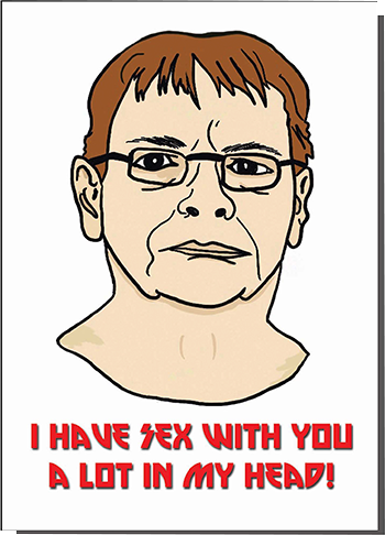 funky quirky unusual modern cool card cards greetings greeting original classic wacky contemporary art illustration photographic distinctive vintage retro humourous funny Bite Your Granny valentine valentine's-day Ian-beale Eastenders