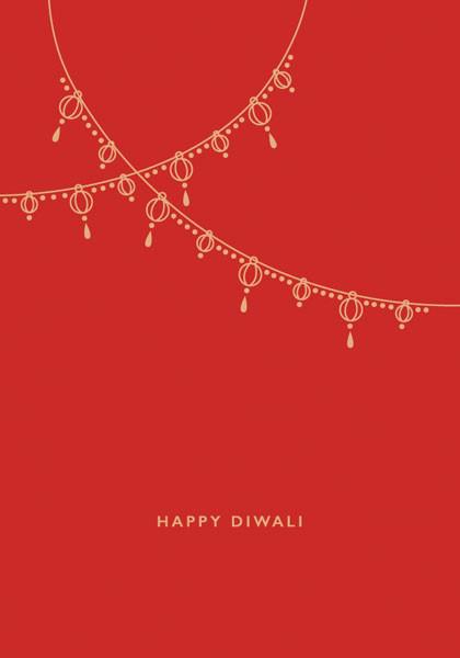 funky quirky unusual modern cool card cards greetings greeting original classic wacky contemporary art illustration photographic distinctive vintage retro Christmas xmas malarkey art file peace blessings pb32 hindu Diwali festival of lights