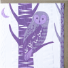 Malarkey Cards Brighton sell funky quirky unusual modern cool original classic wacky contemporary art illustration photographic distinctive vintage retro funny rude humorous birthday greetings cards debossed embossed Lino King Cards Ashleaf printmaking owl bird LBC860