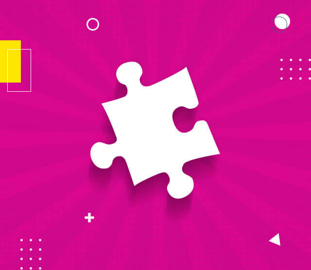 White Puzzle on Pink Background
