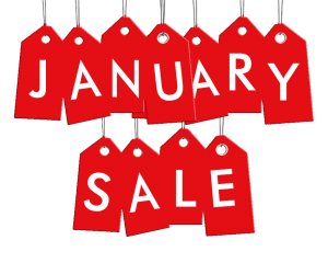 January sales for sneakers
