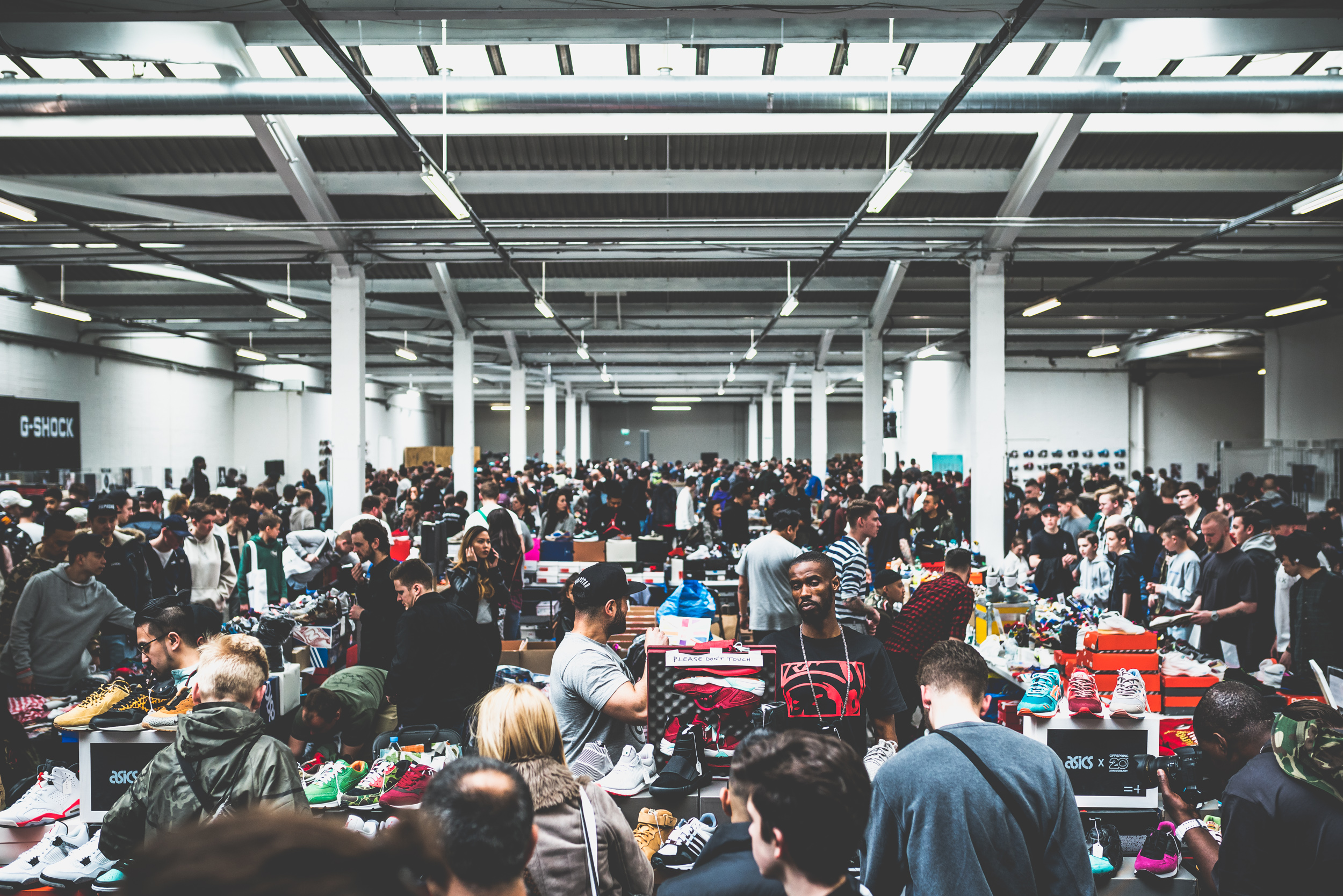sneaker convention crowd