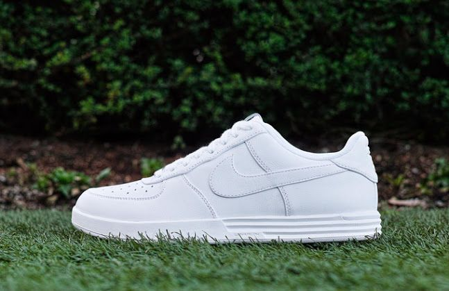 white air force 1 on grass
