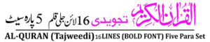 Panj Para Tajweedi 16 Line 26-30 Taj Company Pakistan پنج پارہ تجویدی 16 لائن 26 تا 30 تاج کمپنی پاکستان