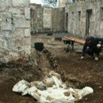 Workers uncovered the remains while converting a former stable block