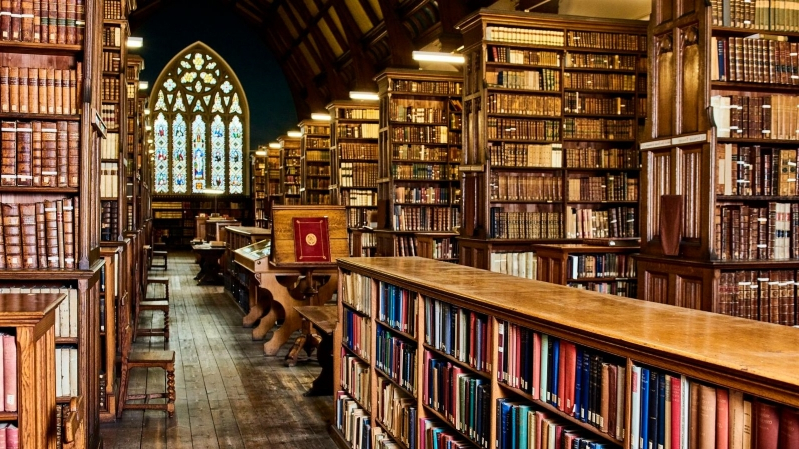 Ushaw College Library is regularly used by visiting scholars