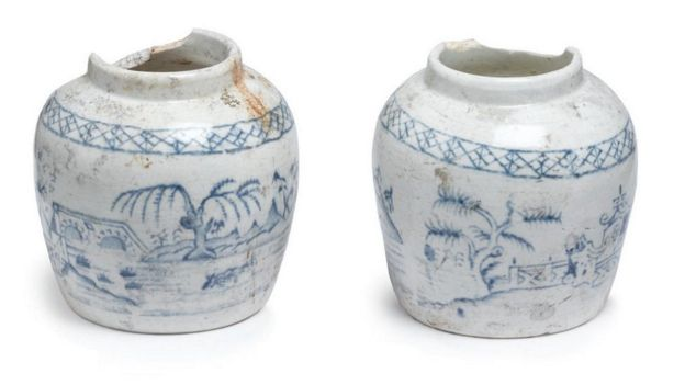These decorative jars were used to sell preserved ginger