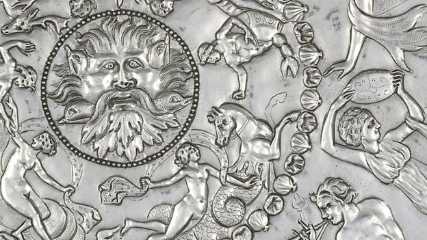 The Mildenhall Treasure, a hoard of 4th Century Roman silver, including the Great Dish (pictured), was found in 1942