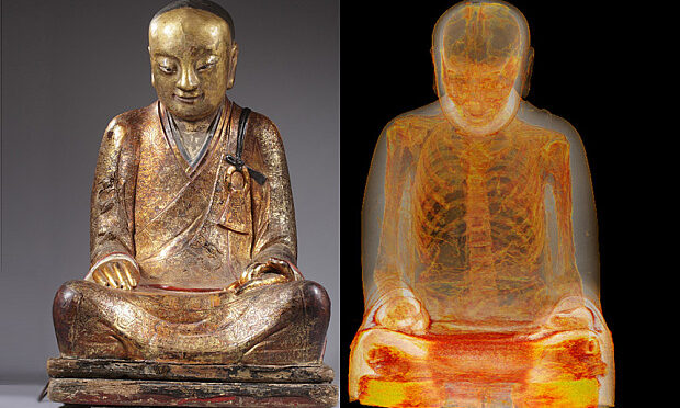 Mummy Found Hiding Inside Ancient Buddha Statue