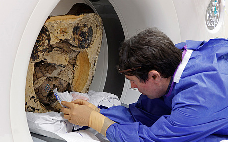 The mummy has been studied by an interdisciplinary team of experts, including radio carbon dating specialists and textile analysts, at the Meander Medical Centre in Amersfoort, the Netherlands.