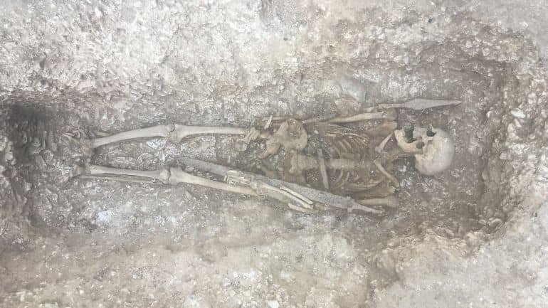 British Soldiers Find The Remains And Sword Of A Rich Saxon Warrior