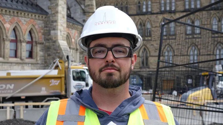 Stephen Jarrett is the project manager for the excavation taking place on Parliament Hill.
