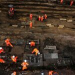60,000 skeletons buried in a green area of ​​London have been excavated