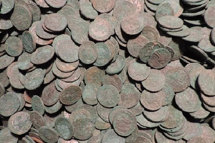 Experts from the British Museum are now examining the hugely significant hoard of Roman coins.