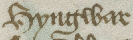 """Hyngwar"", Ivar's name as it appears in Harley MS 2278, a 15th century Middle English manuscript."
