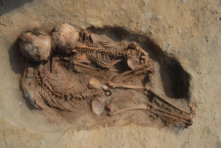 Skeletons at the sacrifice site showed evidence to suggest their chests had been cut open and their hearts removed.