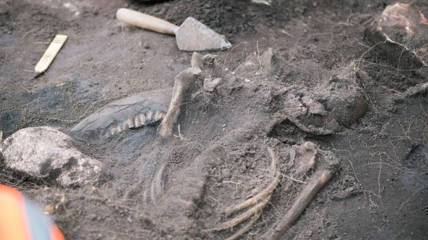 Examining some of the victims of the 5th-Century massacre