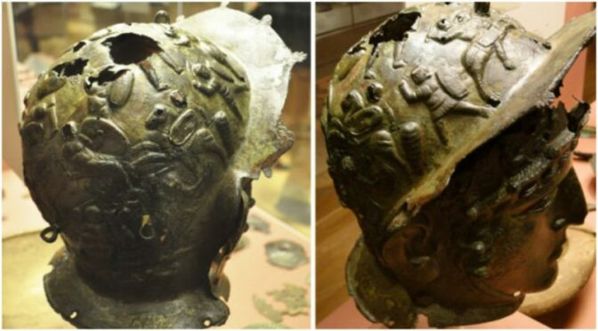 The Ribchester Helmet – An Ancient Roman artifact discovered by a 13-year-old boy while playing behind the house