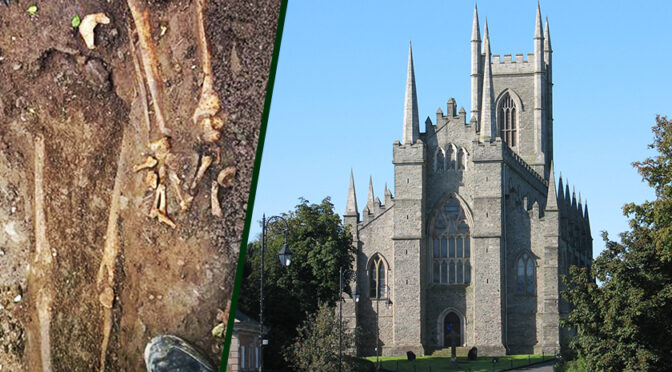 Remains of medieval child found with other skeletons just yards from St Patrick's grave in Northern Ireland